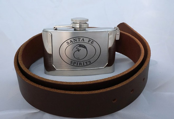 Belt Buckle Flask with Belt
