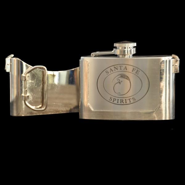 Santa Fe Spirits Belt Buckle 3oz Flask
