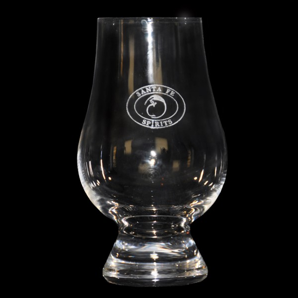 Engraved Santa Fe Spirits Crystal Official Whiskey Glass