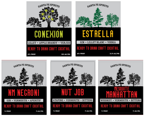 Ready to Drink Cocktail labels