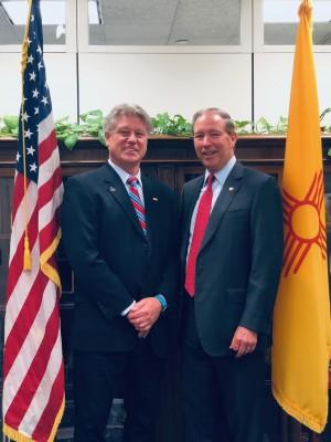 Colin Keegan and Senator Tom Udall