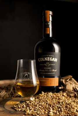 Colkegan bottle with barley