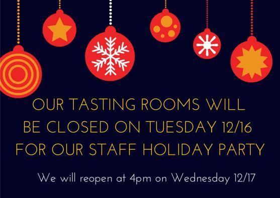 Tasting rooms closed