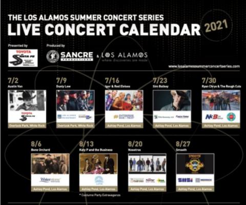 Los Alamos Concert Series line up