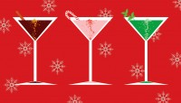 Holiday martini glasses
