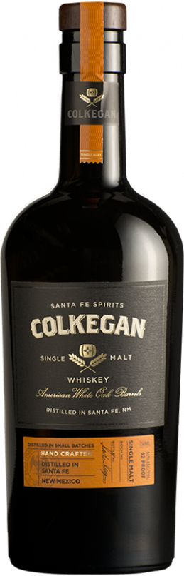 Colkegan Single Malt Whiskey bottle
