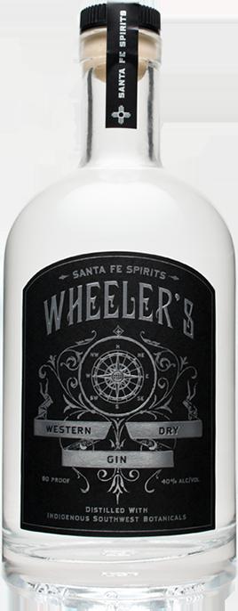 Wheeler's Gin bottle